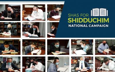Shas for  Shidduchim:  Uniting Chicago (and beyond!) for a Single Mission